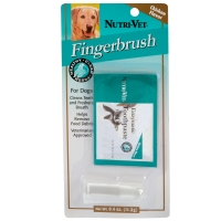 Nutri-Vet finger toothbrush for dogs